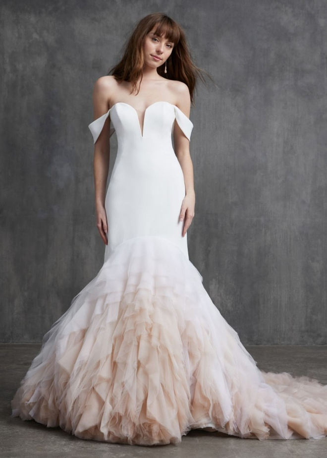 spring 2020 bridal gowns kelly faetanini off the shoulder belle ame houston salon