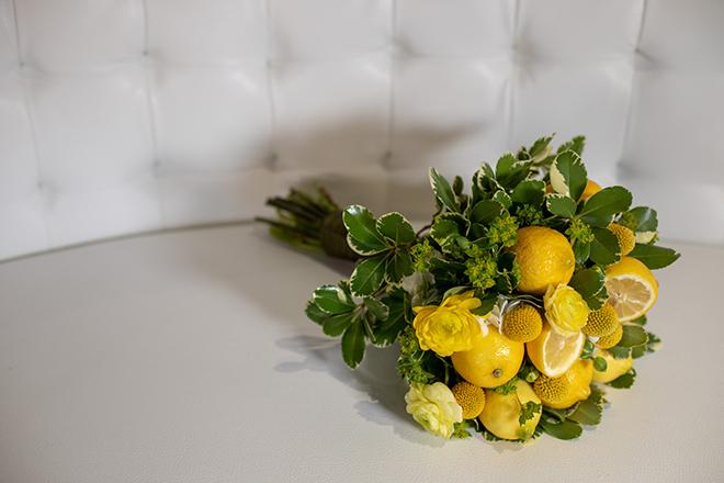 citrus bouquet lemon yellow bouquet