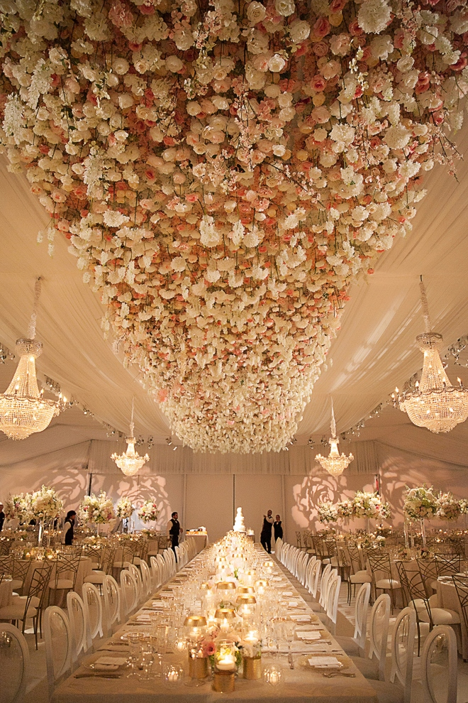 top houston florist plants petals floral ceiling flower wall blush white chandeliers