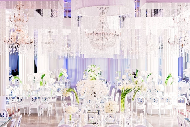 top houston florist plants petals all white wedding decor calla lilies chandeliers crystals