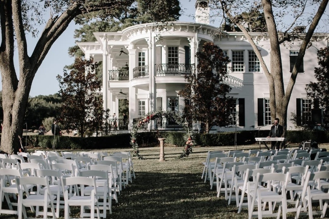 houston wedding venue sandlewood manor house grand opening plantation outdoor ceremony