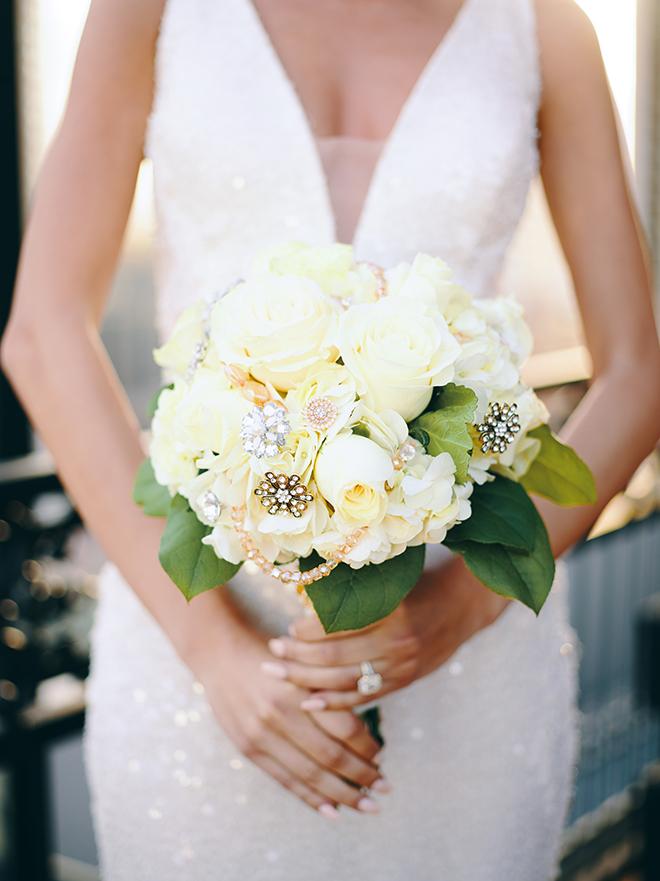 White Bling Bouquet Houston Florist Jeweled Bouquet