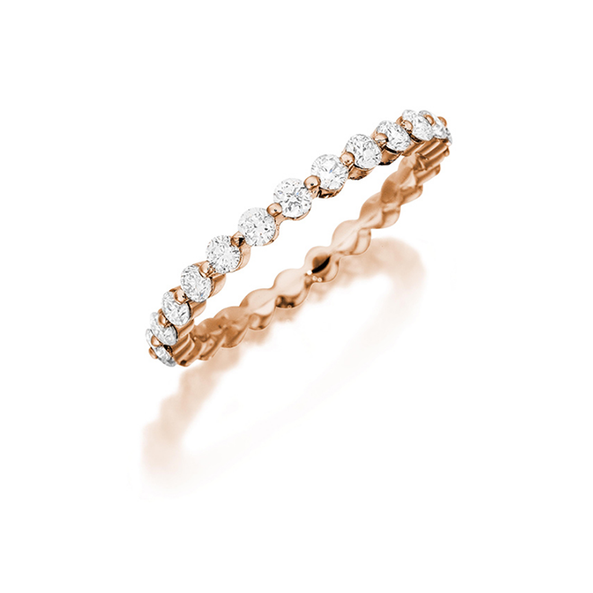 Rose Gold Diamond Bubble Band Houston Henri Daussi