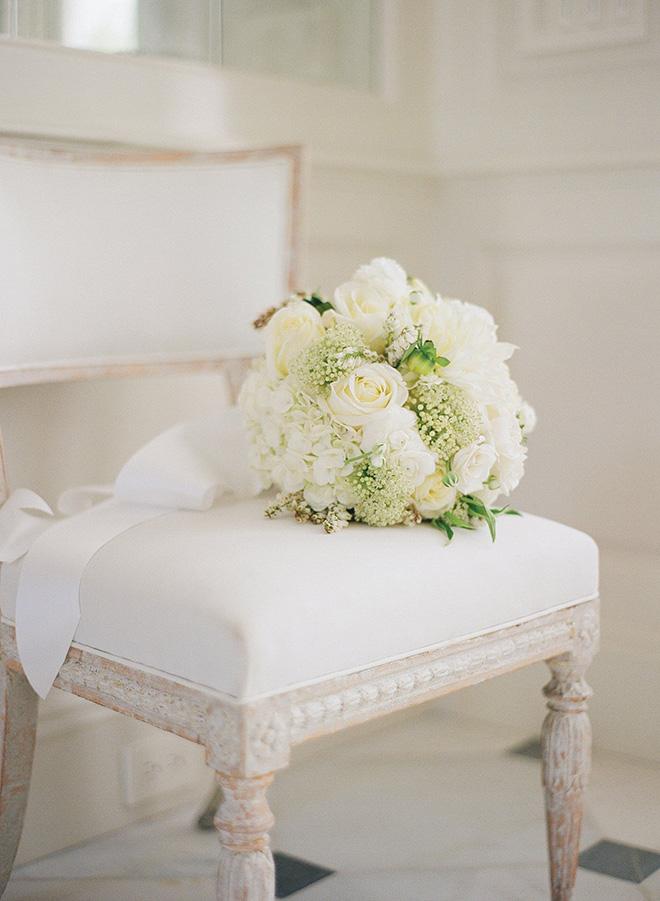 white ribbon bouquet houston florist todd events