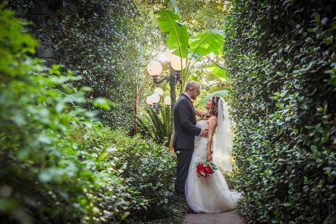 heather's glen garden wedding venue destination conroe outdoor ceremony bride groom