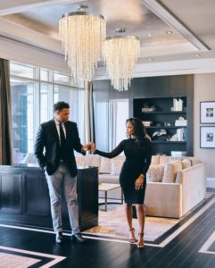 Sweet And Sexy Post Oak Hotel Engagement Shoot By Civic Photos