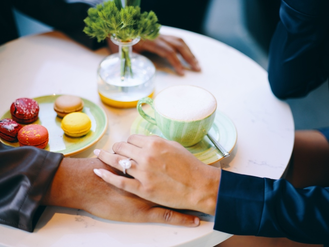 houston engagement shoot civic photos post oak hotel boucherie macarons ring