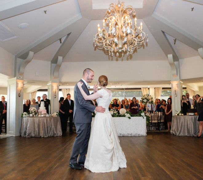 pine forest country club houston bride groom first dance chandelier ballroom fall wedding