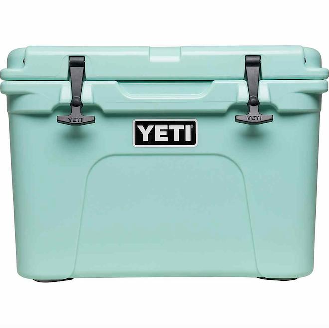 Registry Gift Ideas For Picnics Yeti Roadie Cooler In Seafoam