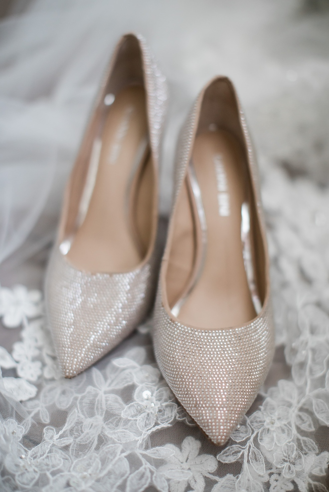 studded nude bridal pumps
