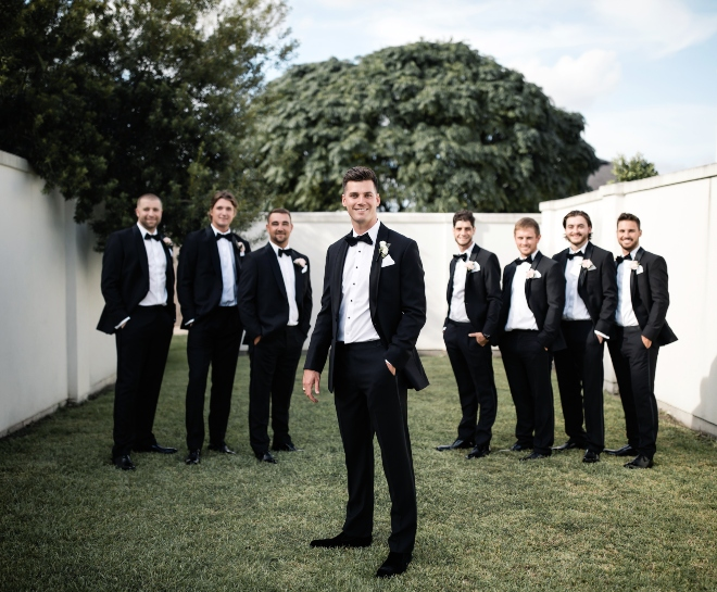 groom groomsmen photo ashton gardens houston wedding