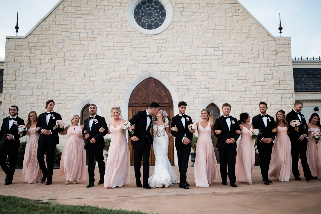 bridal party ashton gardens chapel houston wedding venue