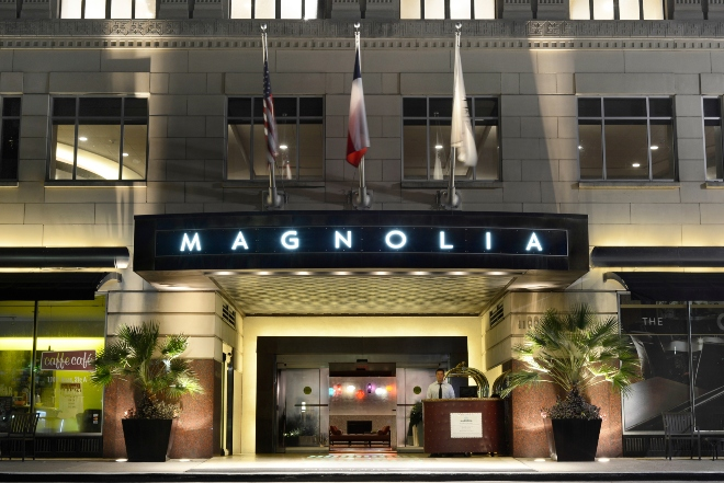 magnolia hotel houston romance weekend giveaway exterior downtown
