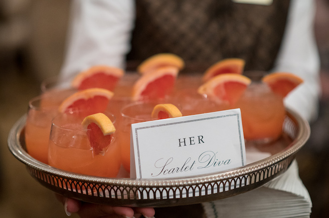 Creative Ways to Serve Alcohol at Your Wedding - his and her cocktails
