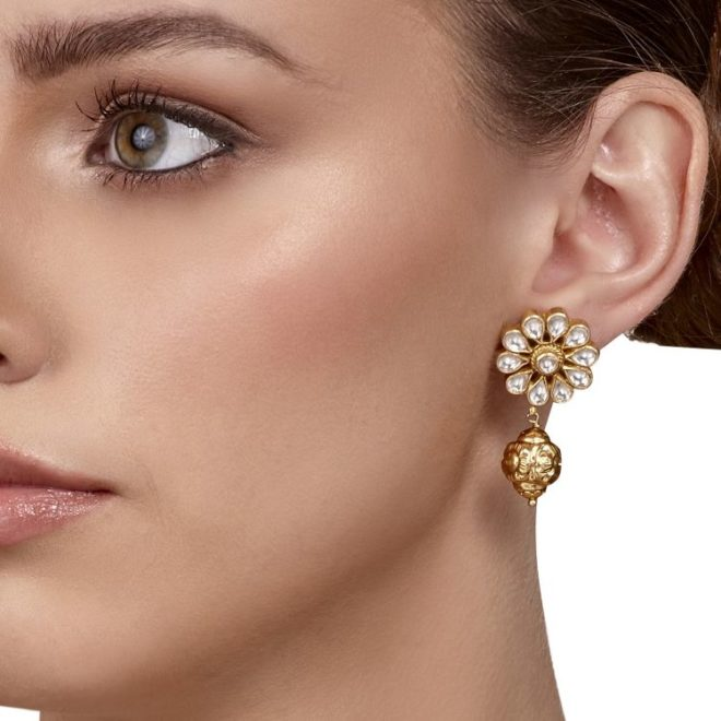 gold drop earrings indian bride jewelry 2020 houston