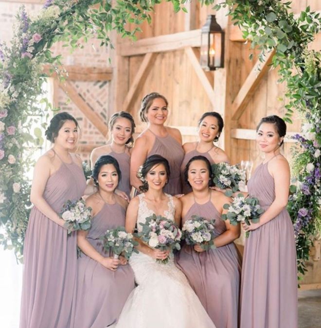 houston wedding florist petals by design bridal party flower arch