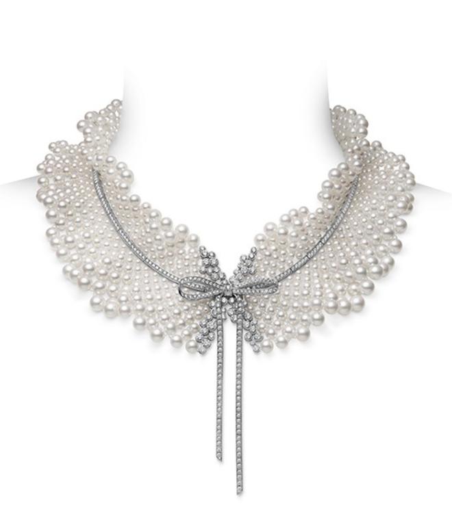 Bridal Pearl Jewelry - Mikimoto - Jeux de Rubans Necklace