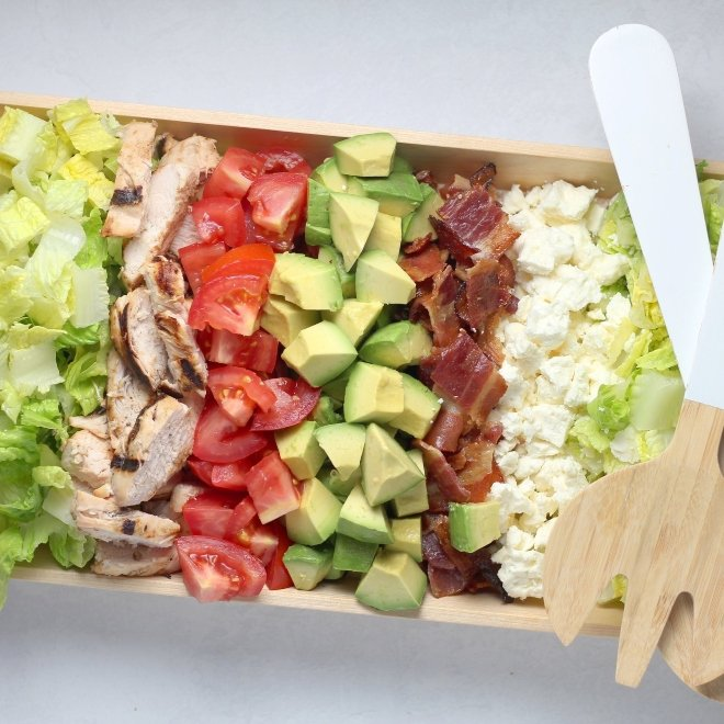cobb salad bride nutrition wedding week-of diet