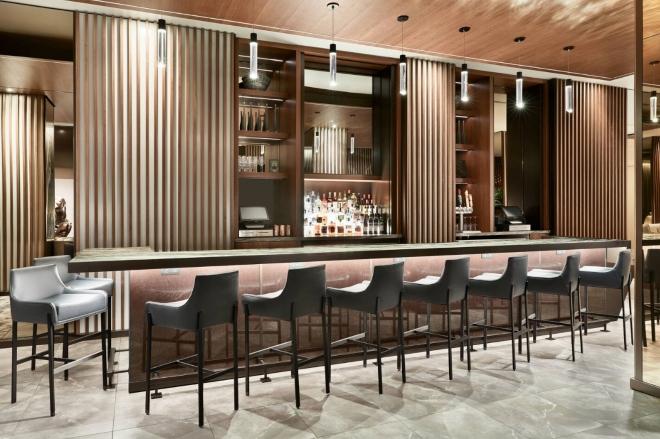 new houston venue ac hotel marriott downtown lobby baar