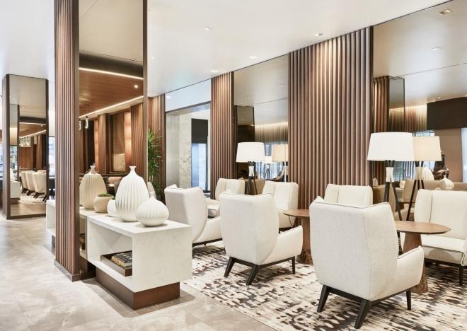 ac hotel houston downtown european modernist lounge seating