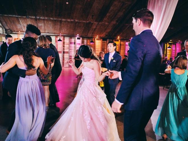 dance floor big sky barn wedding