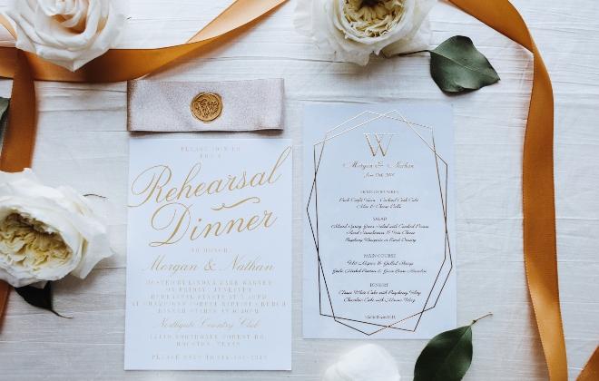 mixed metallics wedding invitation houston texas