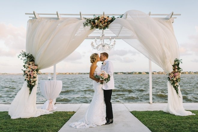 waters edge venue lake view houston wedding ceremony water taxi