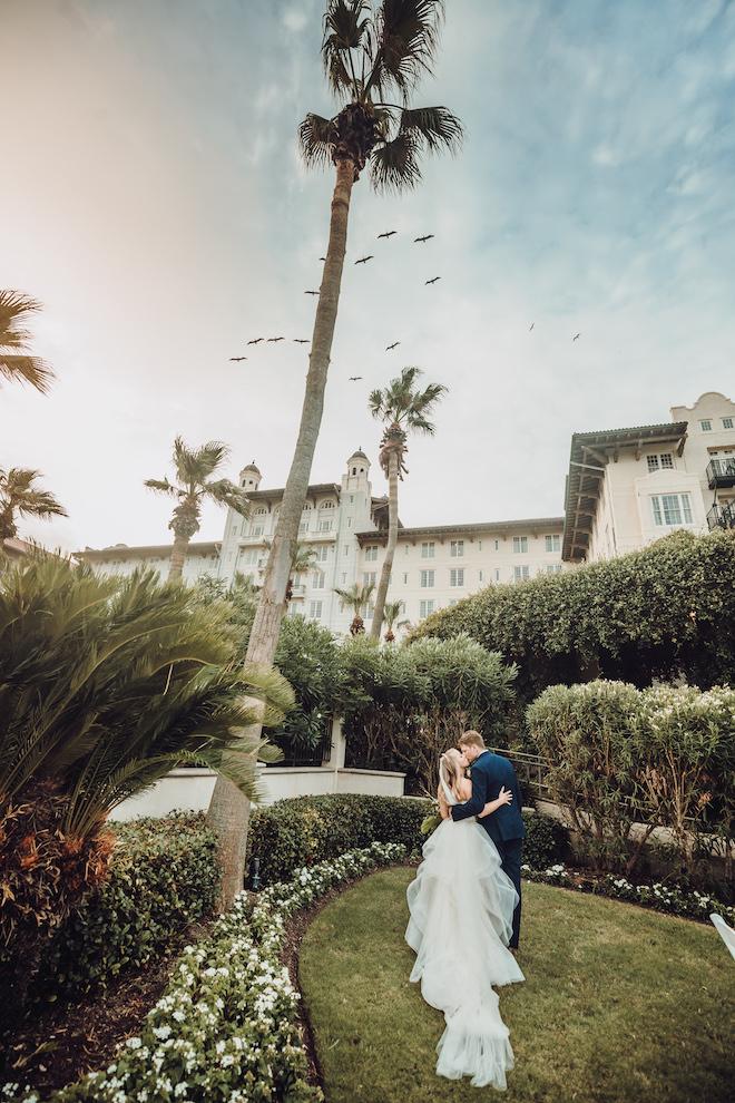 hotel galvez galveston destination wedding historic water view centennial green