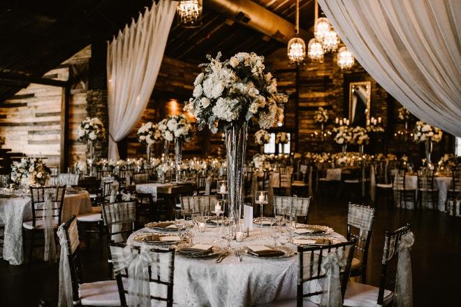 petals by design katy texas wedding florist ballroom reception white centerpieces