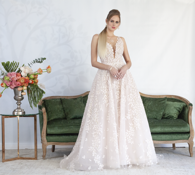 Floral Wedding Gown - Romona Keveza - Joan Pillow Bridal Salon