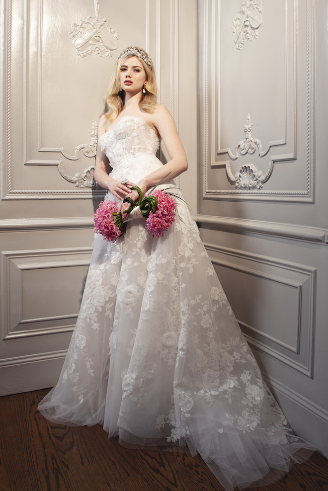 Floral Wedding Gown - Mira Zwillinger - Joan Pillow Bridal Salon
