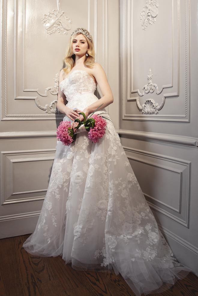 Floral Wedding Gown - Mira Zwillinger - Joan Pillow Bridal Salon