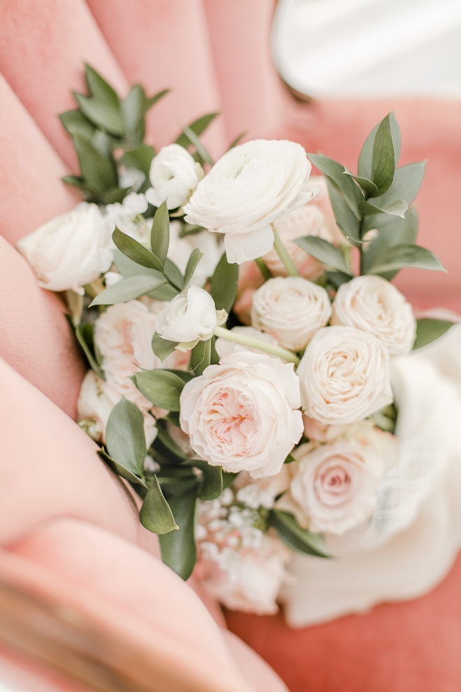 boho rose eucalyptus hand tied bridal bouquet pink chair amy maddox