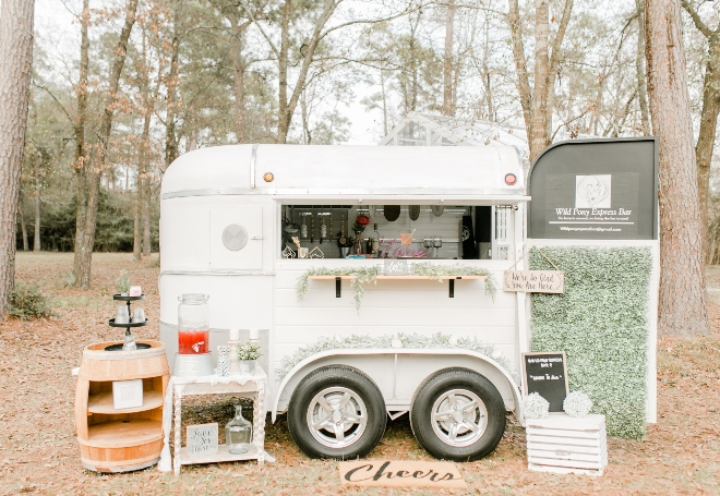 bar truck outdoors forest natural light wedding photography amy maddox houston