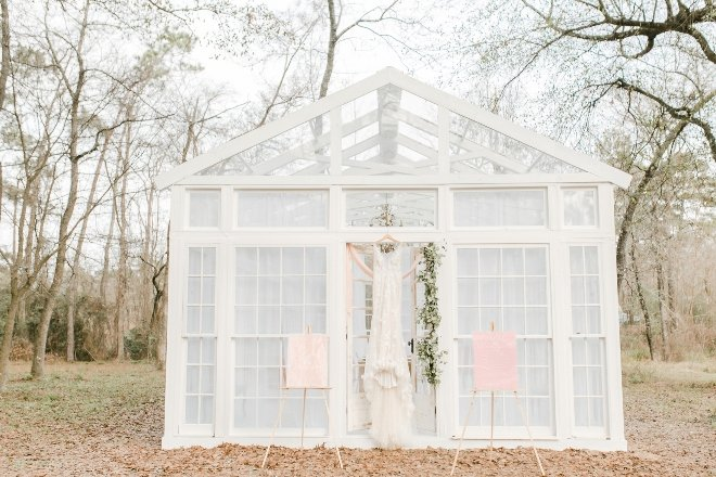 boho rustic styled shoot glass greenhouse forest parvani vida dress natural light wedding photography amy maddox