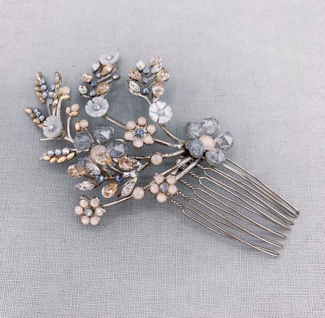 maria elena headpieces bobbi comb crystal flowers i do wedding soiree 2020 door prize