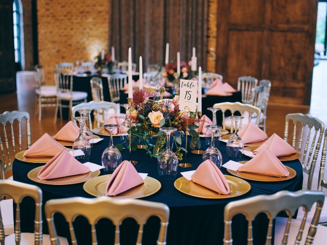 tabletop close shot wedding reception jewel tones chiavaris civic photos