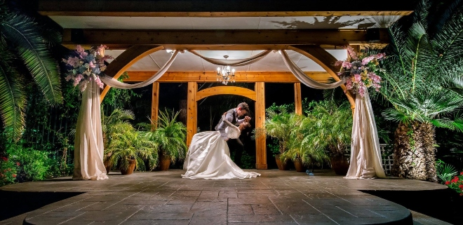 affordable all inclusive venue fairytale wedding garden forest trees arbor outdoor ceremony shirley acres houston