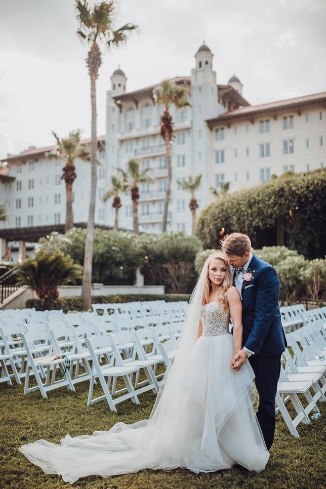hotel galvez galveston destination wedding ama aisha centennial green outdoor ceremony
