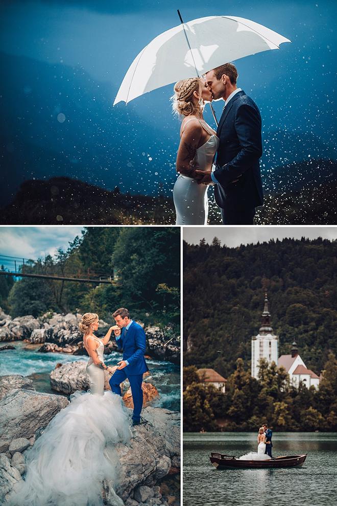 Slovenia Wedding, Lakeside Wedding Ceremony