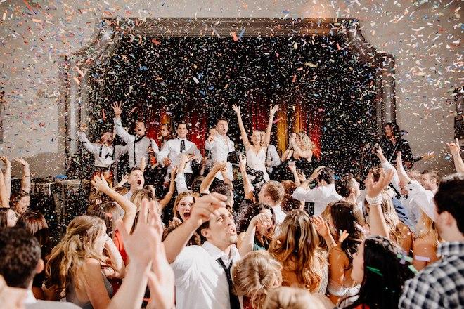 unique wedding reception entertainment ideas confetti cannon