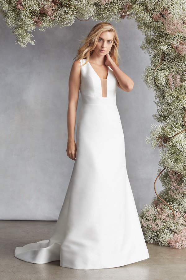 kelly faetanini refined crepe wedding gowns