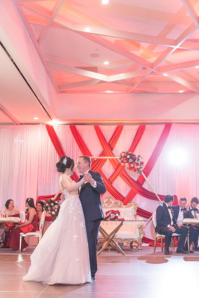 romantic valentine's day wedding westin houston medical center first dance