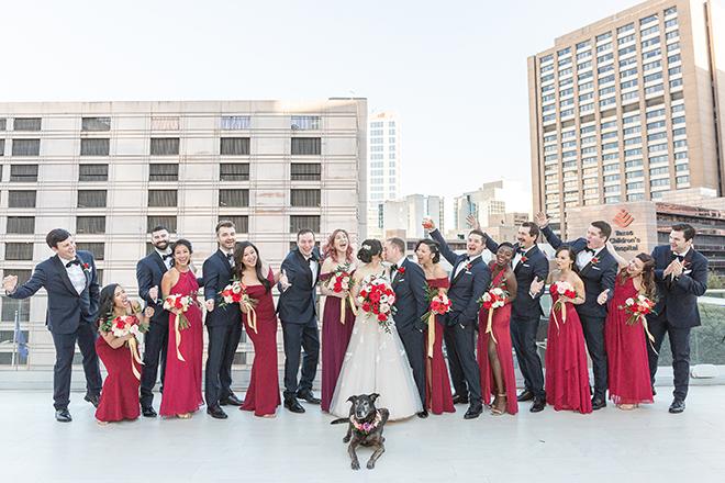 romantic valentine's day wedding westin houston medical center dog friendly