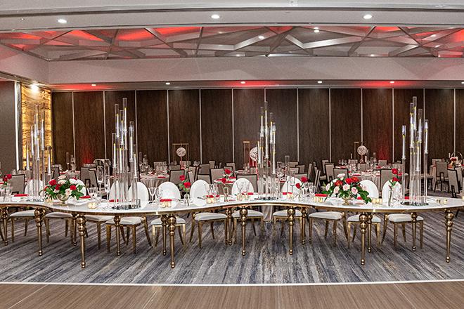 romantic valentine's day wedding westin houston medical center royal luxury events
