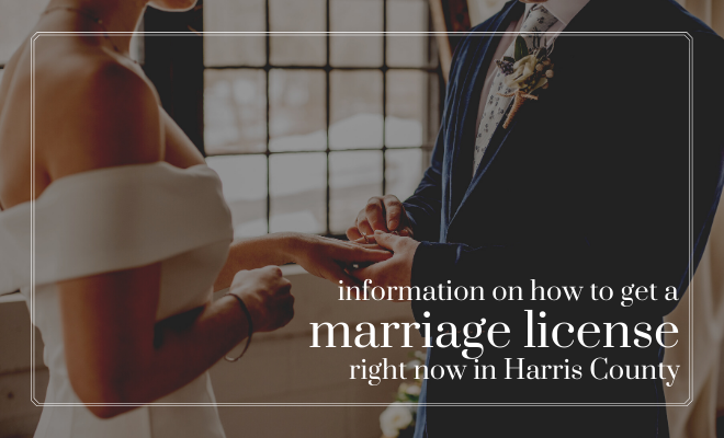marriage license, harris county, houston