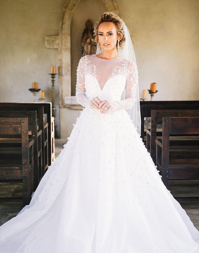 astros new year's eve wedding bridal portrait