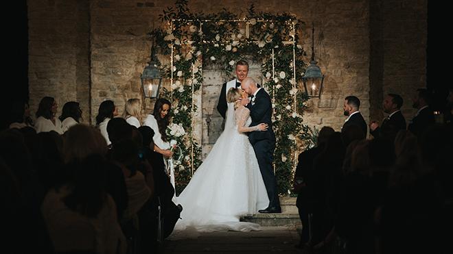 astros new year's eve wedding outdoor ceremony