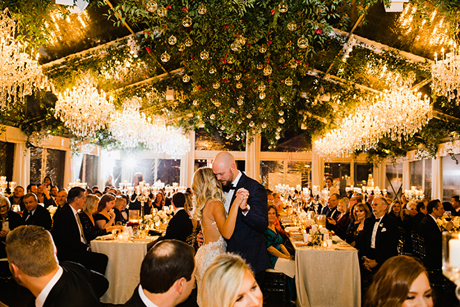 astros ryan pressly new year's eve wedding reception tent first dance