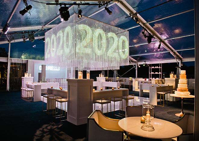 astros ryan pressly new year's eve wedding reception tent